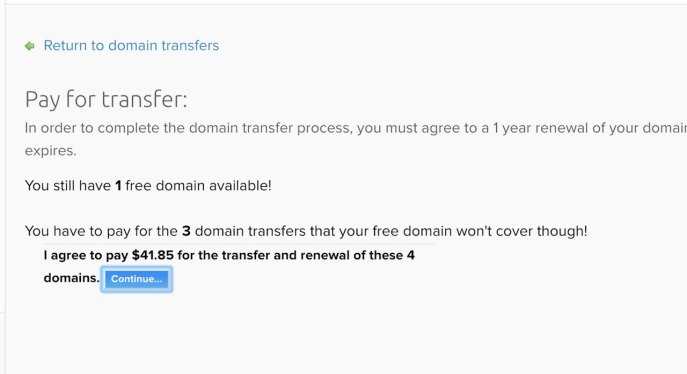 Pay for tranfer